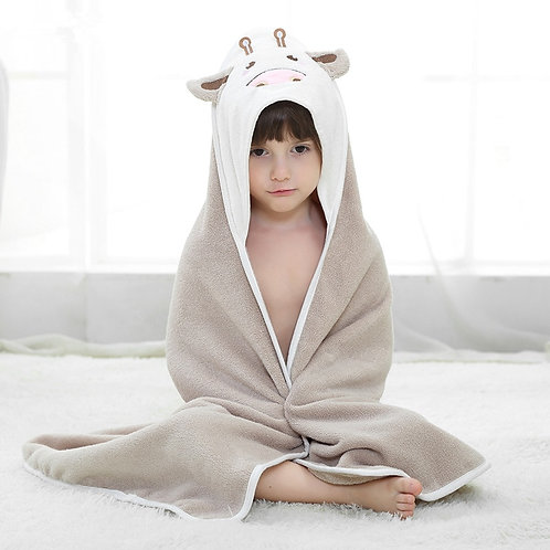 Cute baby towel, cotton baby bath towel