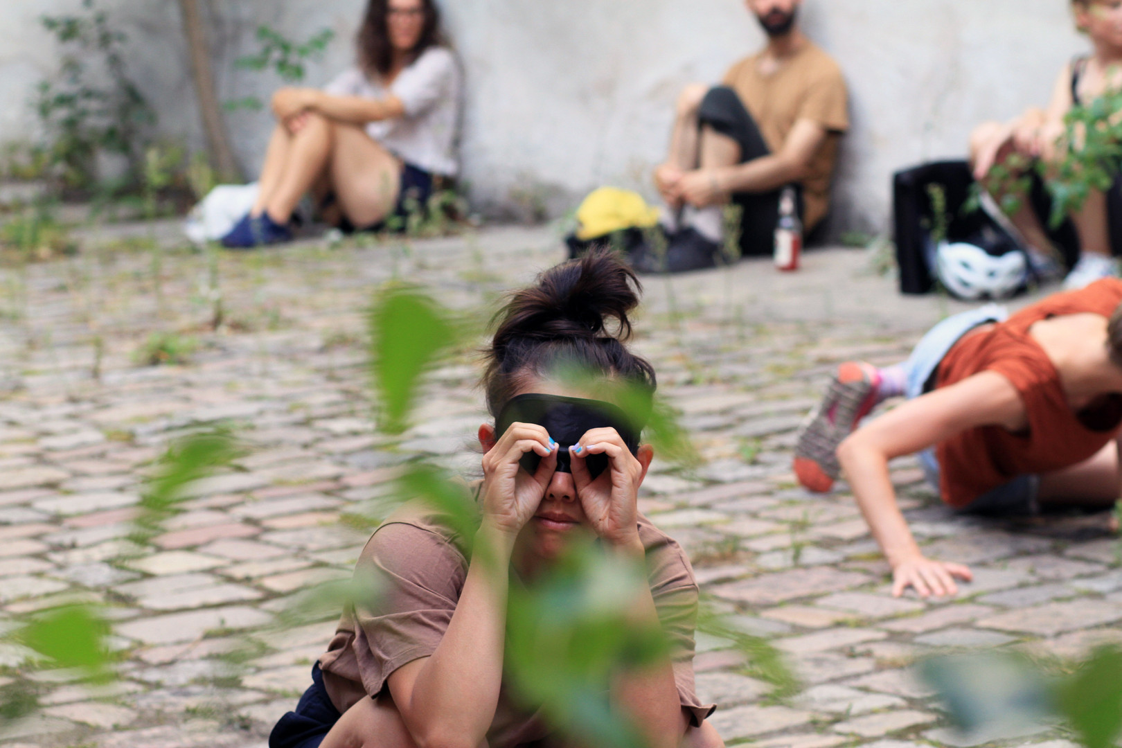 Susi Rosenbohm & Dancers, With Closed Eyes I See More, Performance 15.08.2020 CoNTACT/ HAUNT Berlin © Alana Lake