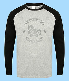 ICRD Long Sleeve Baseball Shirt - Grey/Black
