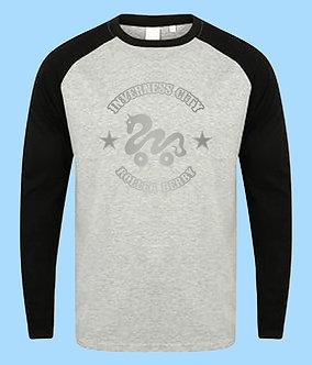 ICRD Long Sleeve Baseball Shirt - Grey/Black