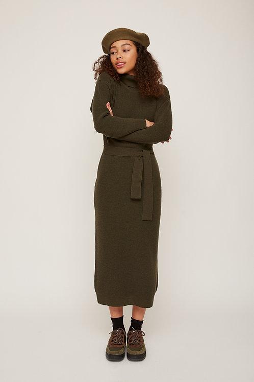 1431-VE / OLIVIA Knit Dress - Kaki