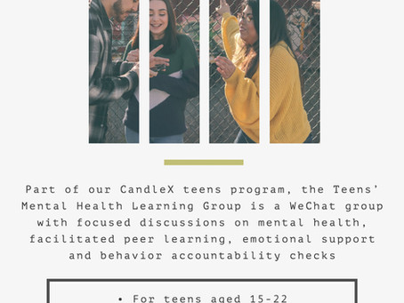 CandleX Teens' Learning Group | Mental Health Project