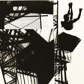 falling among buildings
