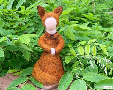 needle felted fox girl