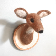 needle felted deer trophy
