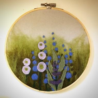 Needle Felted Garden Art