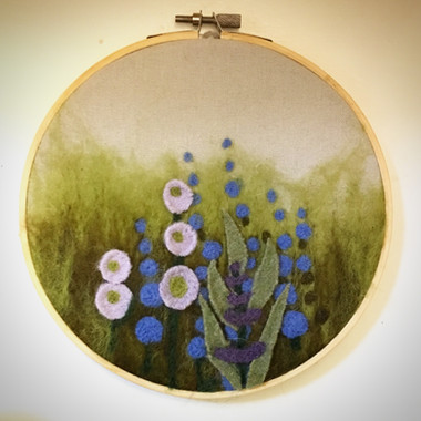 Needle Felted Garden Art