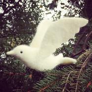Needle Felted Flying Dove