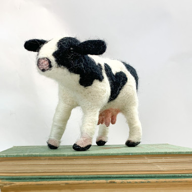 Needle Felted Cow