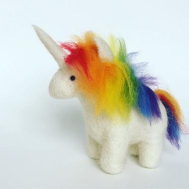 Needle Felted Rainbow Unicorn