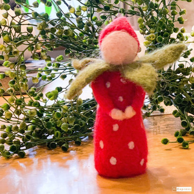 Needle Felted Strawberry Girl