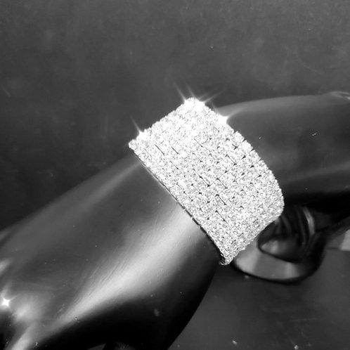 8 Row Rhinestone Stretch Bracelet