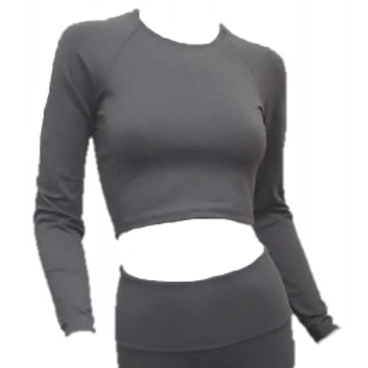 Freestyle Warm Up Crop - Gray