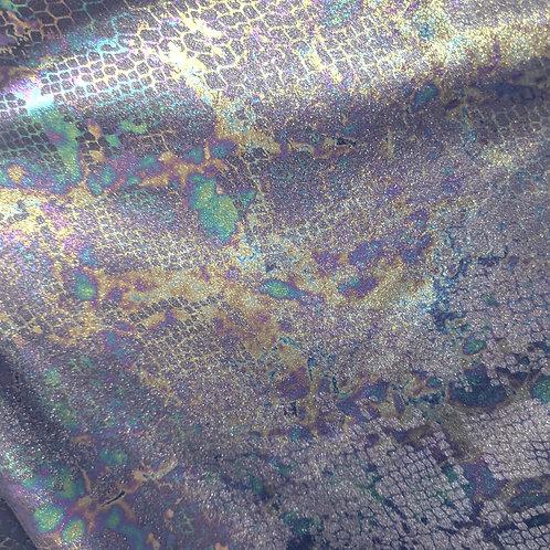 Oil Slick Snake Print