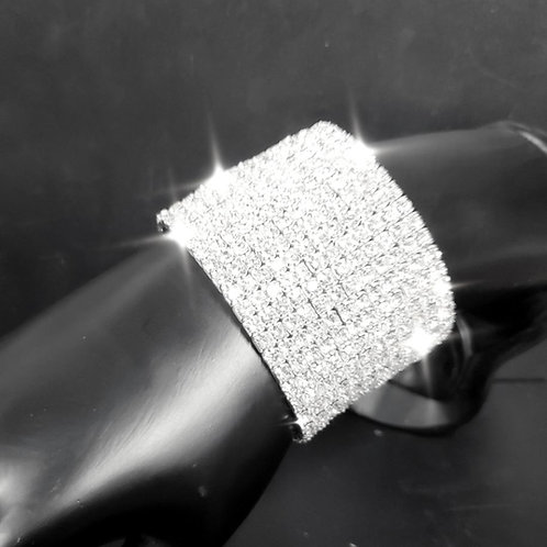 12 Row Rhinestone Stretch Bracelet
