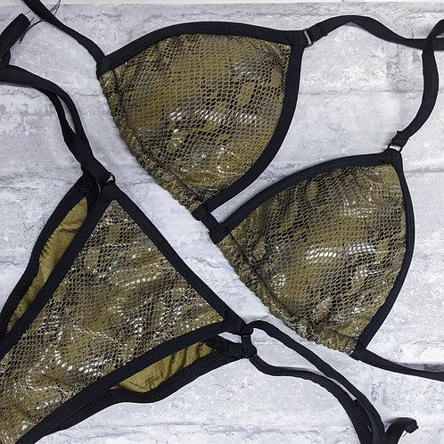 Olive Snake / Black Trim