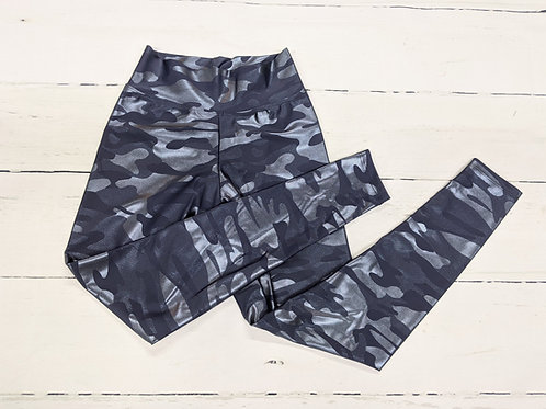 Classic Leggings - Soft Metallic Camo -Slate