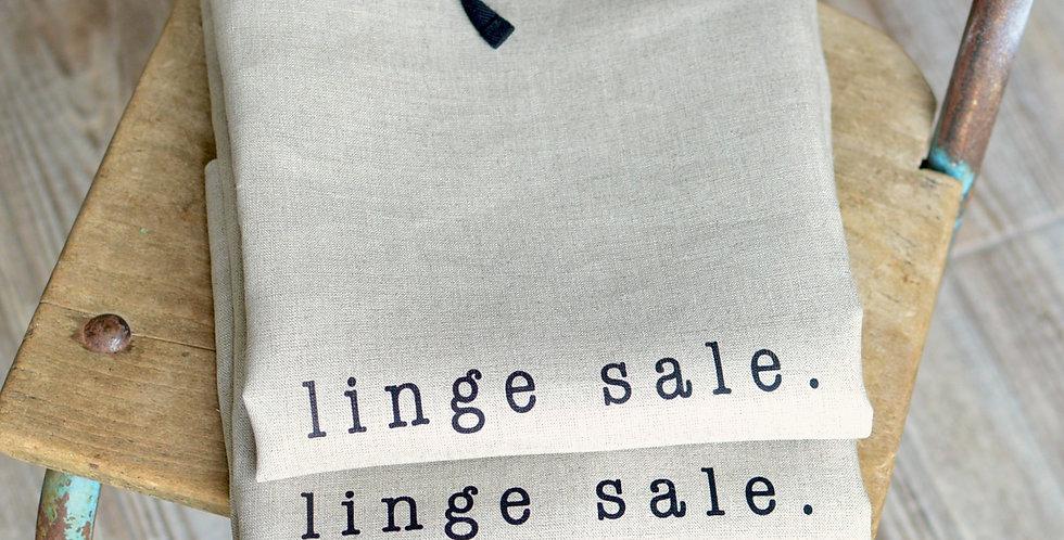 Linge sale - lin naturel