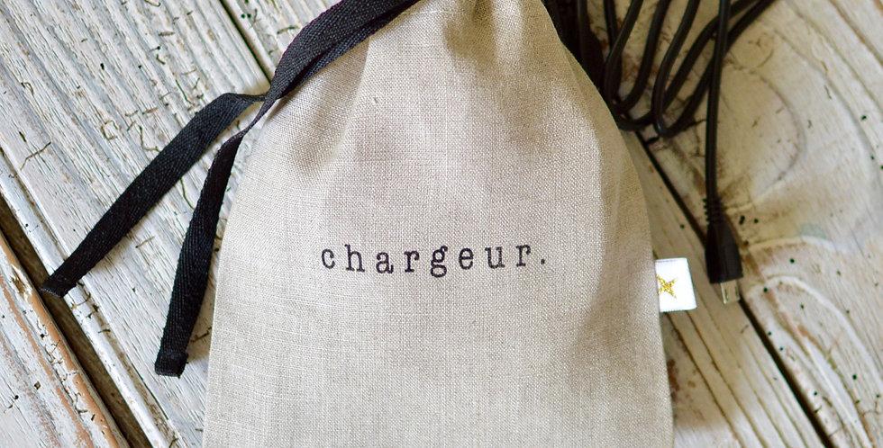 Chargeur - lin naturel