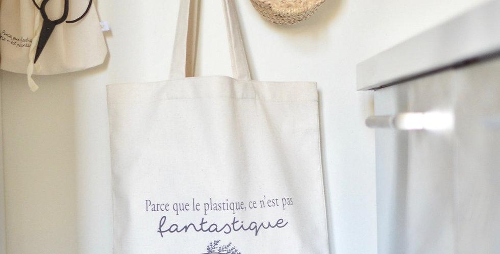 """Tote bag M """"Le plastique"""" ou """"Lecture"""