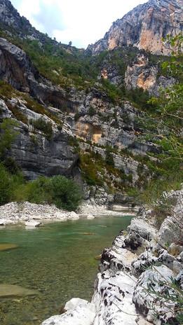 Les eaux translucides du Verdon.