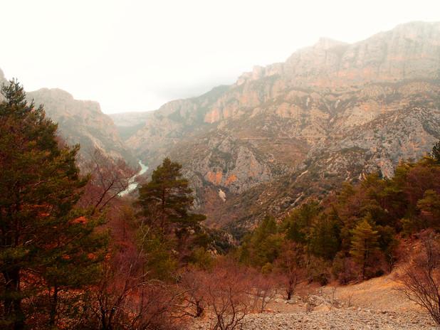 Balade hivernale dans les Gorges du Verdon.