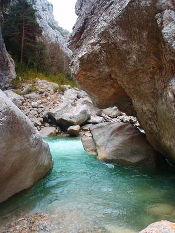 Les eaux turquoises du Verdon.