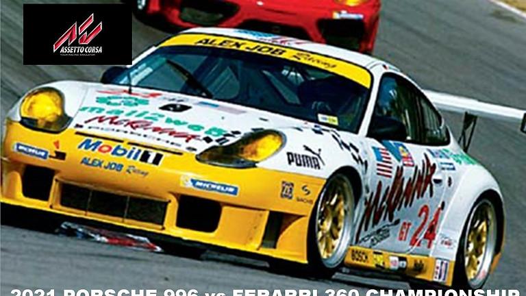 2021 Porsche 996 vs Ferrari 360 Championship Round 4