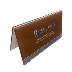 Custom Acrylic Reserve Signs