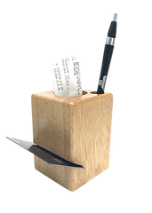 In stock with custom options wood block check presenter
