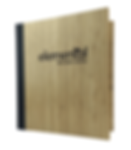 Bamboo Menu Covers by Menu Designs