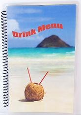 Coil Bound Drink Menus