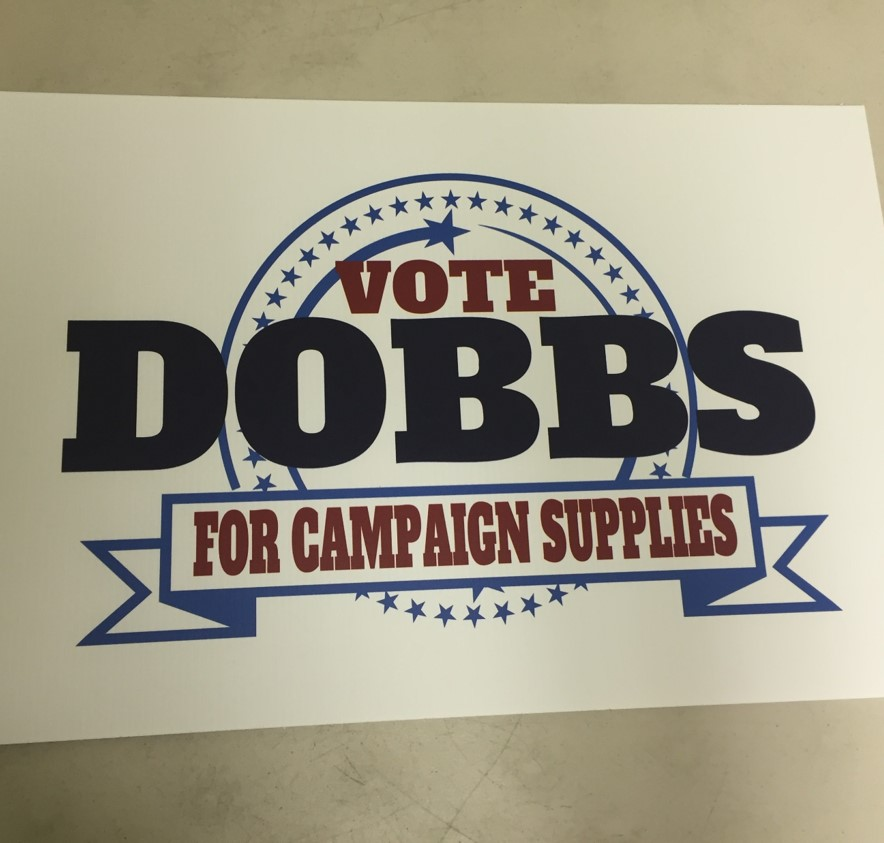Political Campaign Sign
