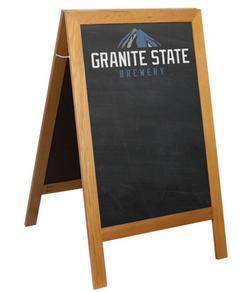 A-frame sidewalk chalkboard menus