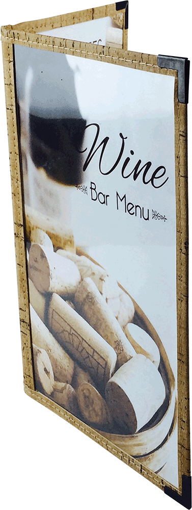 Cafe Menu Cover | Natural Cork Trim