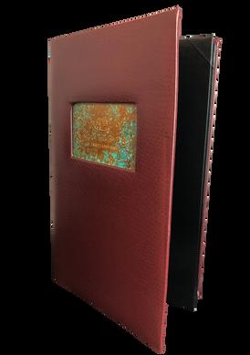 Copper Menu Covers & Copper Drink Books