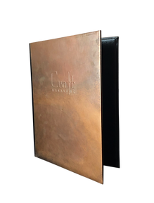 Copper Drink Menus