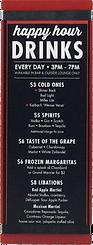 Acrylic Menu Drink Boards