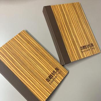 Zebra Wood Ring Binders