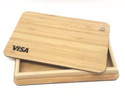 visa bamboo box