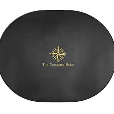 Black Oval Placemat