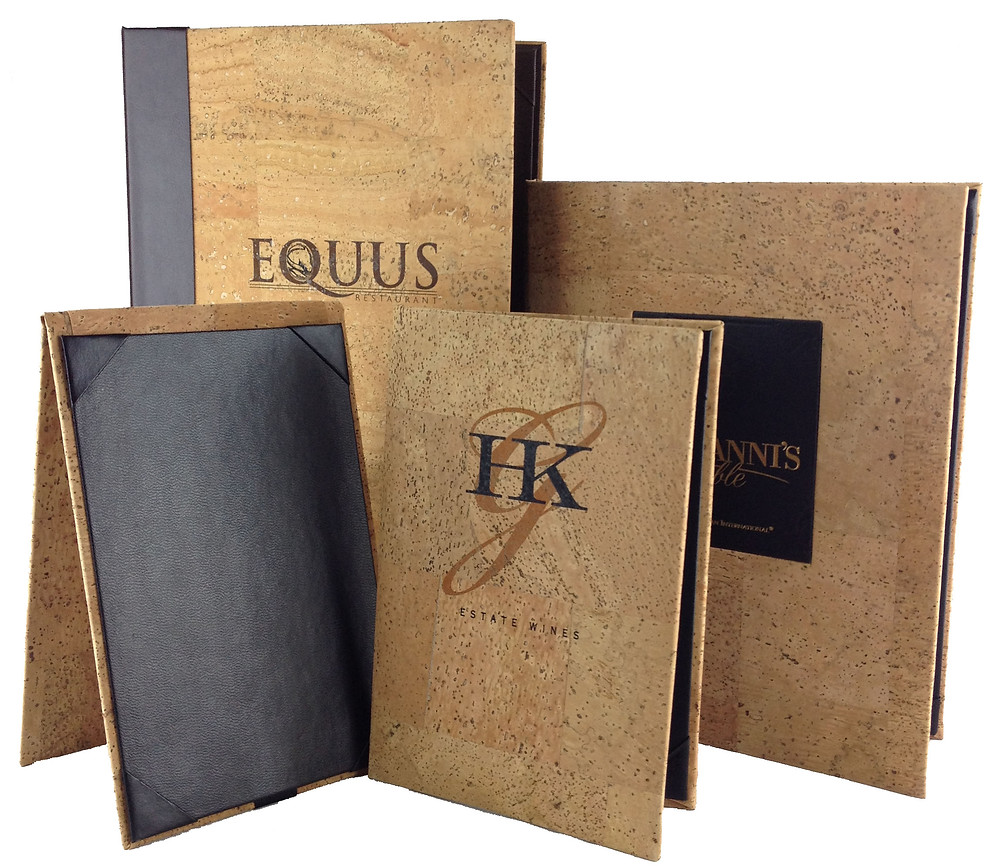 Designer menu covers