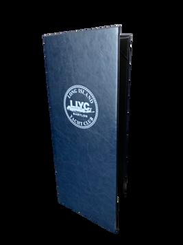Navy Blue Cowhide- Simulated Leather Menu by Menu Designs