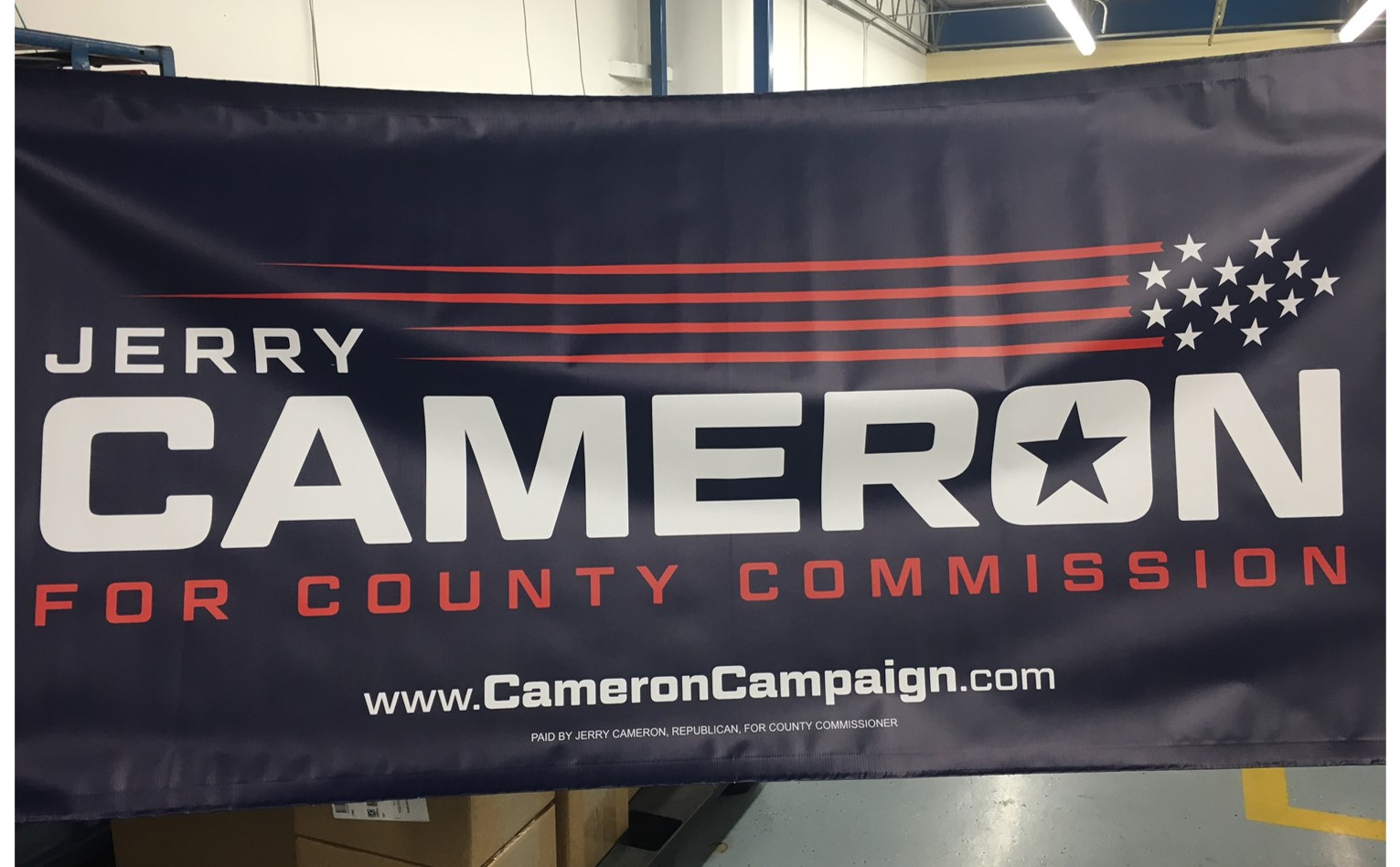 Jerry Cameron Campaign Sign