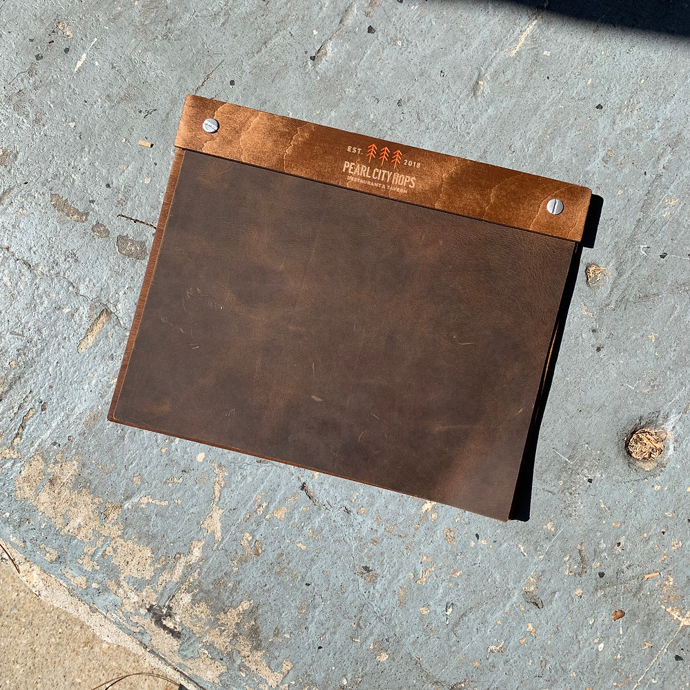 Genuine Leather Menu Boards