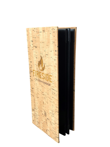 Faux Cork Menus by Menu Design