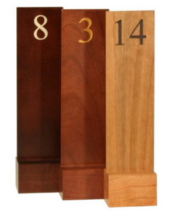Wood Number Signs