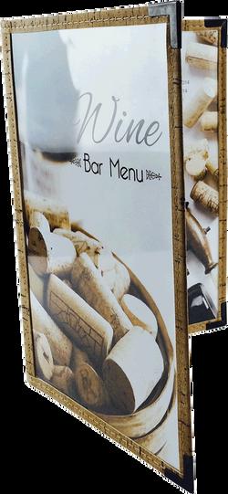 Cafe Menu Cover   Natural Cork Trim