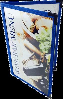 Cafe Menu Cover   Blue Cork Trim