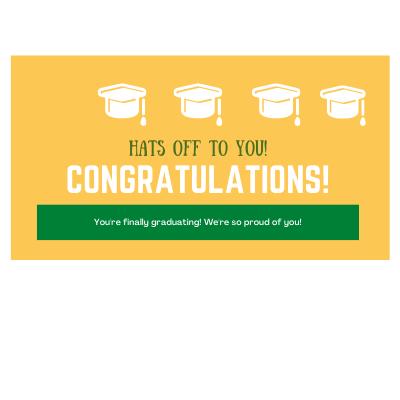 Graduation Outdoor Banners